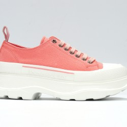 Pink Alexander McQueen Womens Sneakers White Casual Shoes