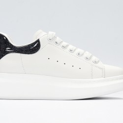 White Alexander McQueen Womens Sneakers Black Casual Shoes