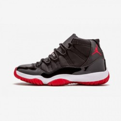 """Air Jordan 11 Retro """"Countdown Pack"""" 136046 062 Black Leather And Patent Leather And Synthetics Black/Varsity Red-White Basketball Shoes"""