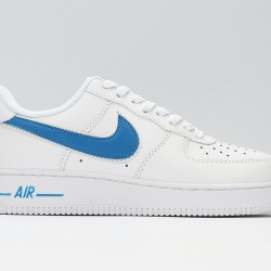 Air Force 1 Low White Blue Unisex Casual Shoes AO2423-100 AJ1 Sneakers
