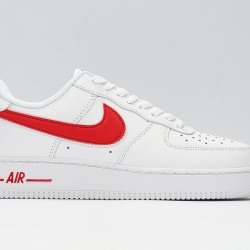 Air Force 1 White Red Unisex Casual Shoes AAO2423-102 Sneakers