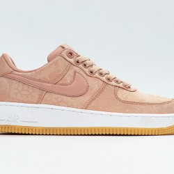 CLOT x Nike Air Force 1 Rose Gold Running Shoes CJ5290-600 AF1 Unisex Sneakers