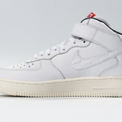 KITH x Air Force1 Ronnie Fieg Mid White Black Sneaker CU2980-193 AF1 Unisex Running Shoes