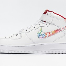 Nike Air Force 1 CNY Mid White Red Sneakers CU2980-191 AF1 Running Shoes