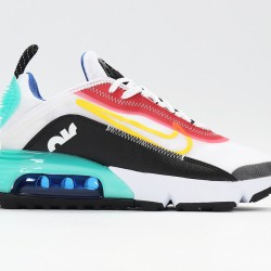 Nike Air Max 2090 Black White Red Blue Unisex Running Shoes CT7698-010