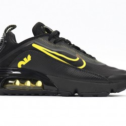 Nike Air Max 2090 Black Yellow Unisex Running Shoes CT7698-006 Sneakers