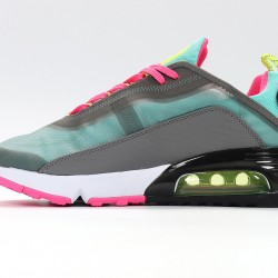 Nike Air Max 2090 Gray Yellow Fuchsia Blue Unisex Running Shoes CT7698-007 Sneakers