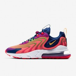 Nike Air Max 270 React Eng Red Purple Blue Mens Running Shoes CD0113 600