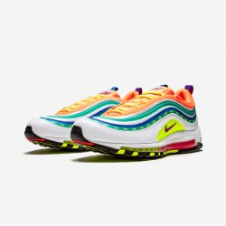 """Nike Air Max 97 """"London - On Air"""" CI1504 100 Orange Multi-Color Running Shoes"""