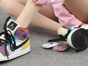 """Air Jordan 1 Mid """"Multicolor"""" Womens Shoes,Is the color matching complicated? CW1140-100"""