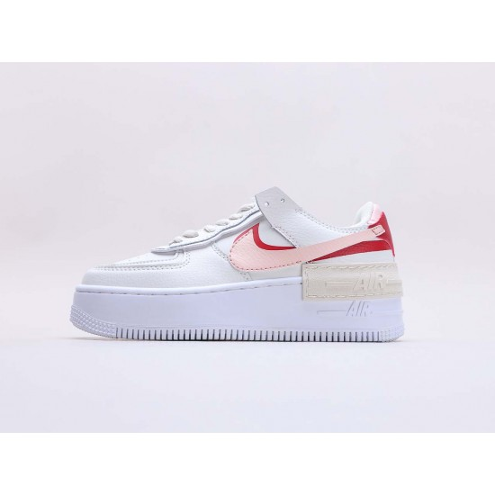 """Nike Air Force 1 Shadow """"Phantom"""" Running Shoes CI0919 003 Womens White Red AF1 Sneakers"""