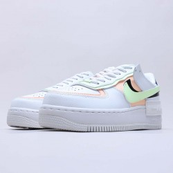 """Nike Air Force 1 Shadow """"Summit White Barely Volt Crimson Tint"""" Running Shoes CI0919 107 WMNS AF1 Sneakers"""