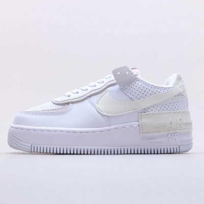 """Nike Air Force 1 Shadow White """"Stone Atomic"""" Pink Running Shoes CZ8107 100 Unisex AF1 Beige White Sneakres"""