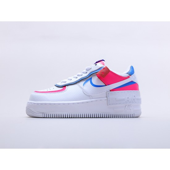 """Wmns Air Force 1 Shadow """"Cotton Candy"""" CU3012 111 AF1 White Blue Pink Running Shoes"""