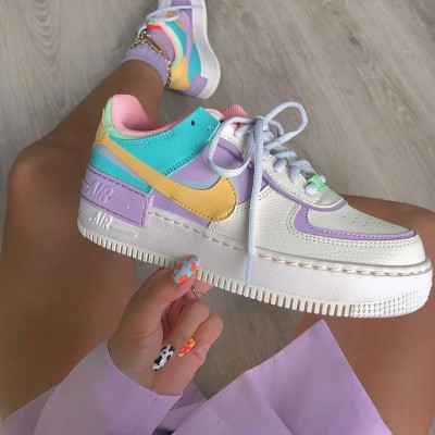 """Nike WMNS Air Force 1 Shadow """"Pale Ivory"""" Pale Ivory/Celestial Gold Running Shoes CI0919 101 Womens Sneakers"""